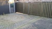 dordrecht-tuinrenovatie oude schutting verwijderen